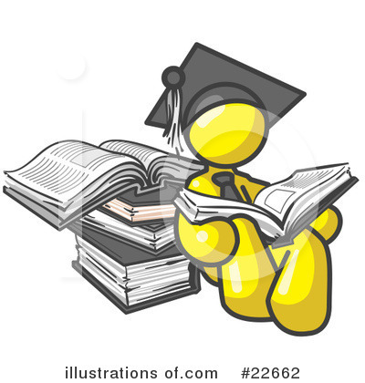 College Student Clipart #22662 by Leo Blanchette