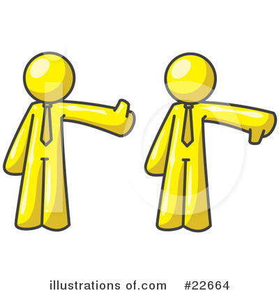 Thumbs Down Clipart #22664 by Leo Blanchette