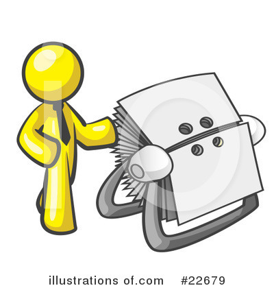 Royalty-Free (RF) Yellow Collection Clipart Illustration by Leo Blanchette - Stock Sample #22679