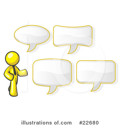 Royalty-Free (RF) Yellow Collection Clipart Illustration by Leo Blanchette - Stock Sample #22680