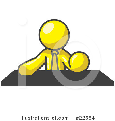 Royalty-Free (RF) Yellow Collection Clipart Illustration by Leo Blanchette - Stock Sample #22684