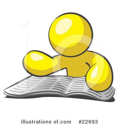 Reading Clipart #22693 by Leo Blanchette