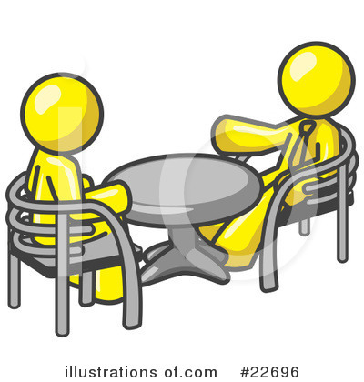 Royalty-Free (RF) Yellow Collection Clipart Illustration by Leo Blanchette - Stock Sample #22696