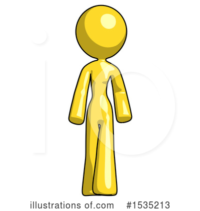 Yellow Design Mascot Clipart #1535213 by Leo Blanchette