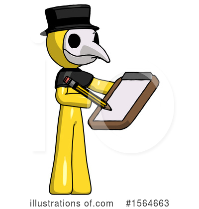 Yellow Design Mascot Clipart #1564663 by Leo Blanchette