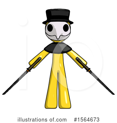 Yellow Design Mascot Clipart #1564673 by Leo Blanchette