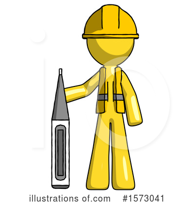 Royalty-Free (RF) Yellow Design Mascot Clipart Illustration by Leo Blanchette - Stock Sample #1573041