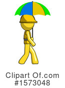 Yellow Design Mascot Clipart #1573048 by Leo Blanchette