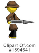 Yellow Design Mascot Clipart #1594641 by Leo Blanchette
