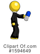 Yellow Design Mascot Clipart #1594649 by Leo Blanchette