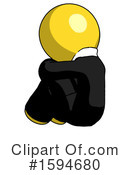 Yellow Design Mascot Clipart #1594680 by Leo Blanchette