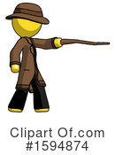 Yellow Design Mascot Clipart #1594874 by Leo Blanchette