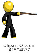 Yellow Design Mascot Clipart #1594877 by Leo Blanchette