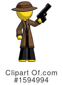 Yellow Design Mascot Clipart #1594994 by Leo Blanchette