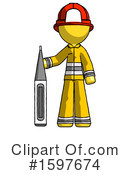 Yellow Design Mascot Clipart #1597674 by Leo Blanchette