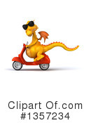 Royalty-Free (RF) Yellow Dragon Clipart Illustration #1357234