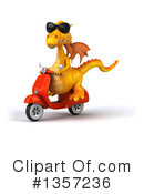 Royalty-Free (RF) Yellow Dragon Clipart Illustration #1357236
