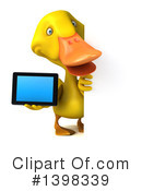 Yellow Duck Clipart #1398339 by Julos