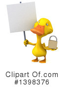 Yellow Duck Clipart #1398376 by Julos
