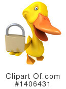 Yellow Duck Clipart #1406431 by Julos