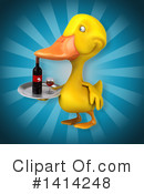 Yellow Duck Clipart #1414248 by Julos