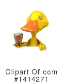 Yellow Duck Clipart #1414271 by Julos