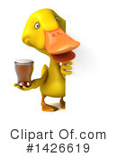 Yellow Duck Clipart #1426619 by Julos