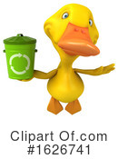 Yellow Duck Clipart #1626741 by Julos