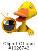 Yellow Duck Clipart #1626743 by Julos