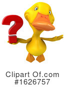 Yellow Duck Clipart #1626757 by Julos