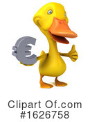 Yellow Duck Clipart #1626758 by Julos