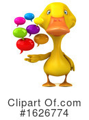 Yellow Duck Clipart #1626774 by Julos