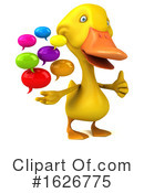 Yellow Duck Clipart #1626775 by Julos