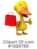 Yellow Duck Clipart #1626789 by Julos