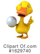 Yellow Duck Clipart #1629740 by Julos