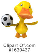 Yellow Duck Clipart #1630437 by Julos