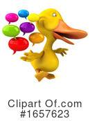 Yellow Duck Clipart #1657623 by Julos