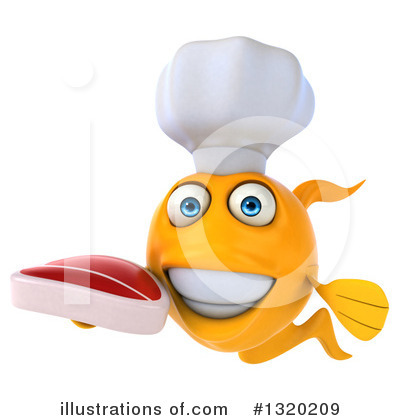 Chef Fish Clipart #1320209 by Julos