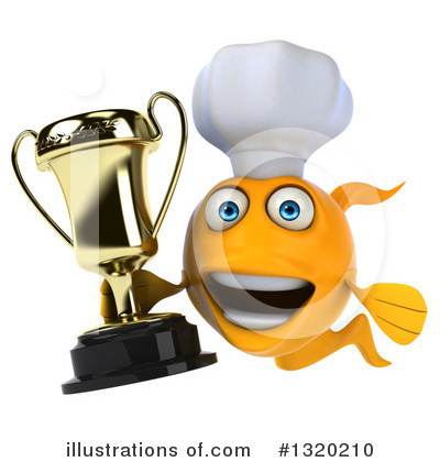 Chef Fish Clipart #1320210 by Julos