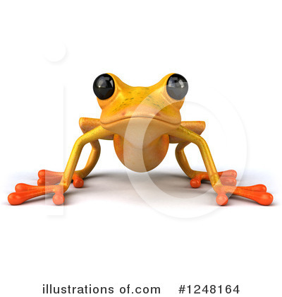 Yellow Frog Clipart #1248164 by Julos