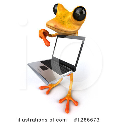 Royalty-Free (RF) Yellow Frog Clipart Illustration by Julos - Stock Sample #1266673