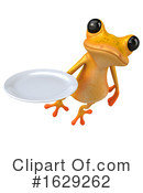 Yellow Frog Clipart #1629262 by Julos