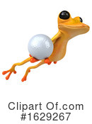 Yellow Frog Clipart #1629267 by Julos