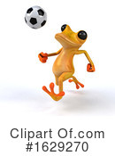 Yellow Frog Clipart #1629270 by Julos