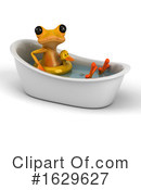 Yellow Frog Clipart #1629627 by Julos