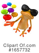 Yellow Frog Clipart #1657732 by Julos