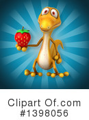 Yellow Gecko Clipart #1398056 by Julos
