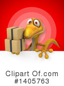Yellow Gecko Clipart #1405763 by Julos
