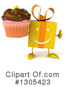 Yellow Gift Character Clipart #1305423 by Julos