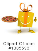 Yellow Gift Character Clipart #1335593